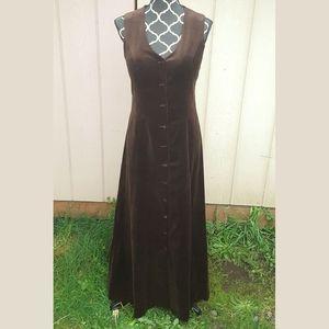 True Vtg 60s Mister Robert full length suede dress